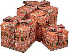 HYLDM Scatole Regalo Illuminate di Natale, Scatole