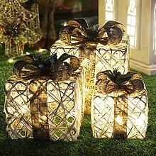 HYLDM Set di 3 scatole Luminose con Fiocchi,