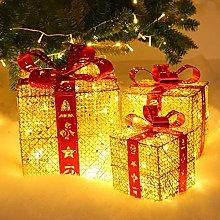 HYLDM Set di 3 scatole Regalo Illuminate di