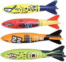HYLDM Torpedo Rocket 4 PCS Subacqueo Torpedo