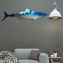 HZRKJ Decorazione da Parete in Metallo con squalo,