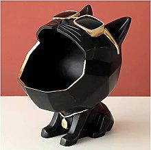 HZYDD Scultura a forma di gatto vassoio di