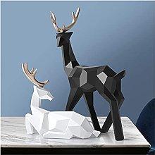 HZYDD Scultura Deer Decorazione Statua Scultura in