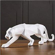 HZYDD Scultura Leopardo Statua Resina Geometrica