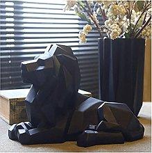 HZYDD Scultura moderna astratta leone scultura