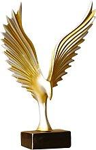 HZYDD Scultura Uccello Ala Statua in resina