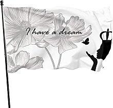 I Have A Dream Black Flag 3x5 Ft Decorazioni