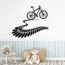 I Love Mountain Bike Tire Tracks Cuori Adesivi