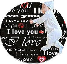 I Love You Patterns Zerbino Rotondo Lavabile
