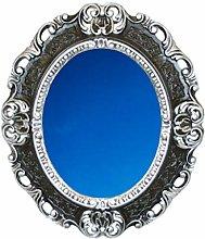 Idea Casa Specchio Specchiera Nero e Argento