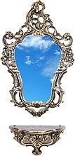Ideacasa Completo Specchio e Mensola Consolle Nero