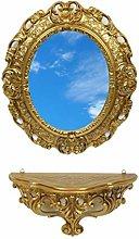 Ideacasa Completo Specchio Ovale più Mensola
