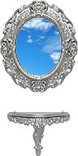 Ideacasa Consolle + Specchio Ovale Argento