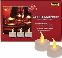 Idena 50023 - LED tea lights, 24 pezzi, candele