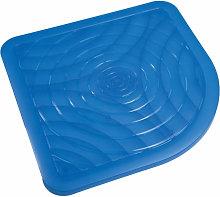 Idralite - Pedana doccia antiscivolo blu 56x56 in