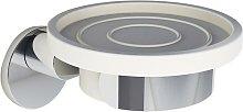 Idralite - Porta sapone in metallo cromo fissaggio