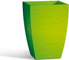 Idralite - Vaso Aloe In Resina Quadrato Verde H40