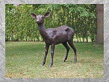 IDYL - Scultura in bronzo a forma di cervo   117 x