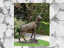IDYL - Scultura in bronzo a forma di cervo a