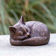 IDYL - Scultura in bronzo a forma di gatto che