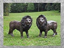 IDYL - Scultura in bronzo a forma di leone, 100 x