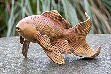 IDYL - Scultura in bronzo a forma di pesce