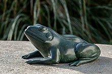 IDYL - Scultura in bronzo a forma di rana verde, 9