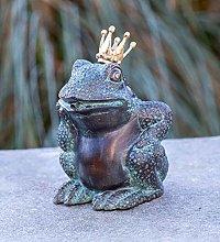 IDYL - Scultura in bronzo a forma di re rana, 17 x