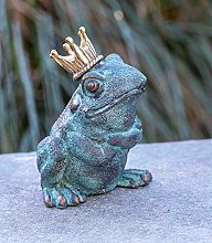IDYL - Scultura in bronzo a forma di re rana, 20 x