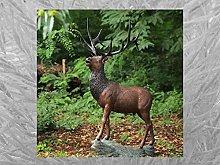 IDYL - Scultura in bronzo con cervo   196 x 81 x