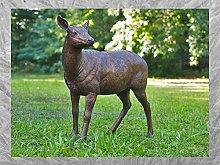 IDYL - Scultura in bronzo con cervo femminile   92