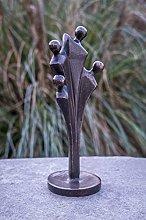 IDYL - Scultura in bronzo con famiglia moderna con