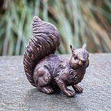 IDYL - Scultura in bronzo con scoiattoli, 12 x 6 x