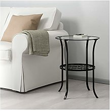IKEA.. 201.285.64 Klingsbo Tavolino, Nero, Vetro