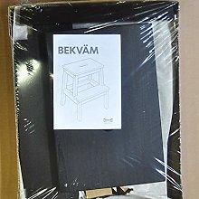 Ikea Bekvam, sgabello nero multiuso in legno