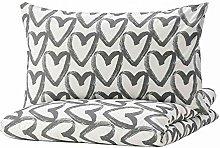 Ikea LYKTFIBBLA - Copripiumino e federe per letto