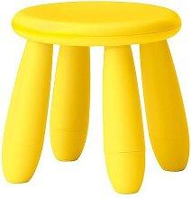 Ikea MAMMUT - Sgabello per bambini, giallo chiaro