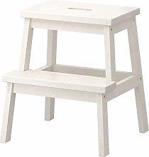 Ikea Tritthocker in Weiß aus Massivholz