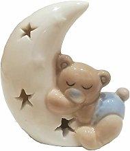 ILARY QUEEN Bomboniera Statuina Orsetto sulla Luna