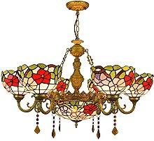 Illuminazione a Sospensione in Stile Tiffany,
