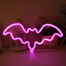Illuminazione al neon con pipistrello Decorazione