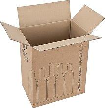Imballaggio bottiglie per spedizioni Confez. da 10