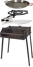 IMEX EL ZORRO 71588–Kit Barbecue Quadrato,