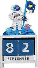 IMIKEYA Natale Astronauta Calendario a Blocchi