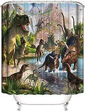 Impermeabile enda da Doccia Scenario di dinosauri