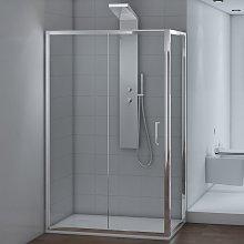 Inbagno - Box doccia 70x120 cm Angolare Cristallo