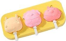 Incdnn Stampo per gelato a 3 celle, in silicone