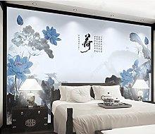 Inchiostro e lavaggio Lotus TV sfondo decorazione