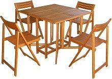 INSULA - set tavolo da giardino pieghevole