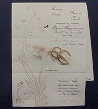 Inviti matrimonio Cod. E9131 set composto da 10